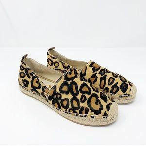 Sam Edelman Khloe Leopard Espadrille Flats Sz 8